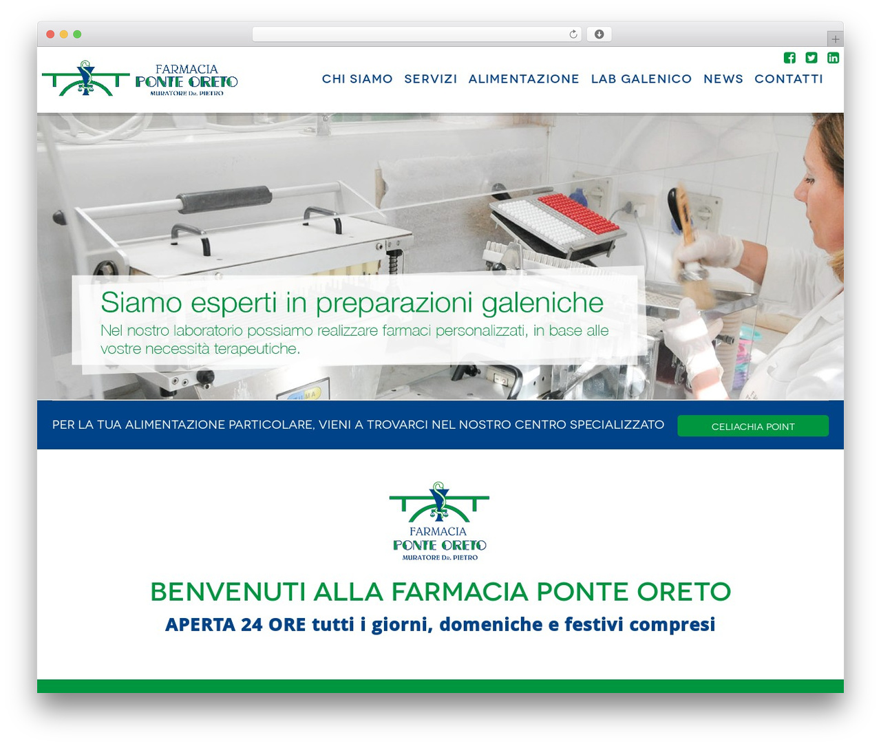 WordPress website template CmsSuperHero - farmaciaponteoreto.it
