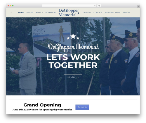 DeGlopper best WordPress theme - degloppermemorial.org