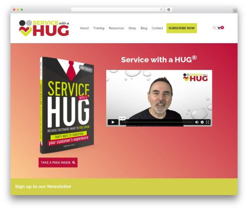Livre best WordPress theme - servicewithahug.com
