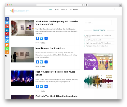 Theme WordPress Satrah - idalunden.com