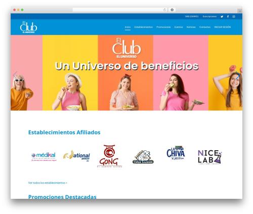Best WordPress template Salient - clubeluniverso.com