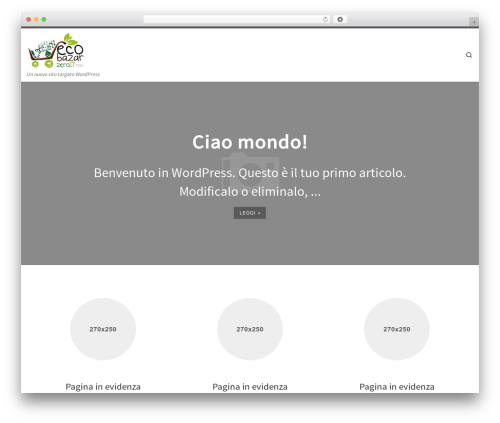 Customizr WordPress website template - madeintrash.it