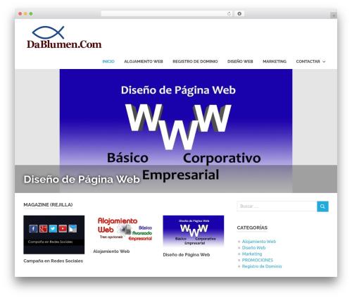 Poseidon WordPress template free - dablumen.com