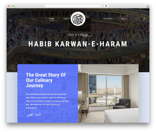 Salient WordPress theme - habibkarwaneharam.com