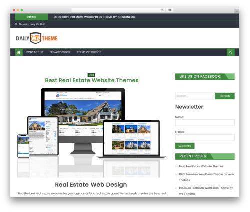 Eggnews theme WordPress free - dailywptheme.com