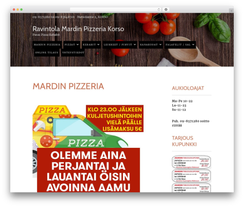 Food Express free WordPress theme - mardinpizza.fi