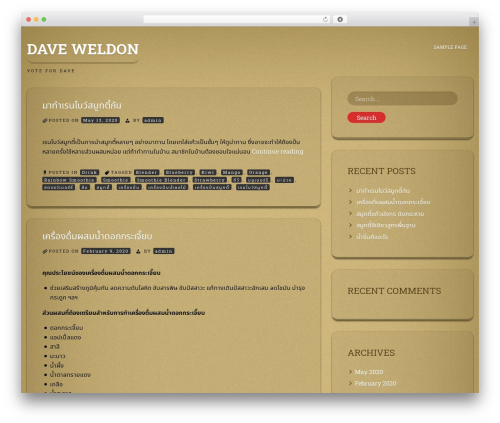 ioCarton WordPress theme - daveweldonforsenate.com