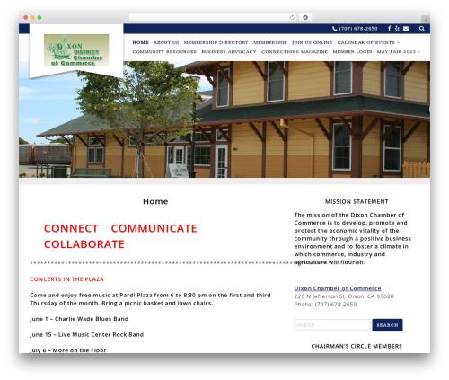 WordPress template Chamber Beautiful - dixonchamber.org