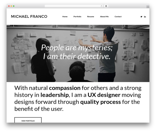 WordPress theme Hind - michaelfranco.design