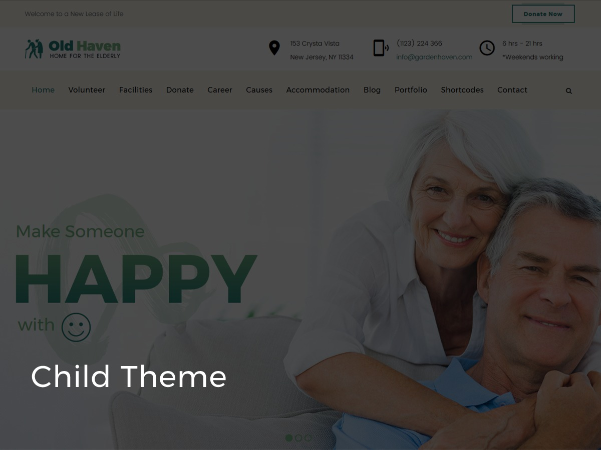 WordPress theme Oldhaven Child