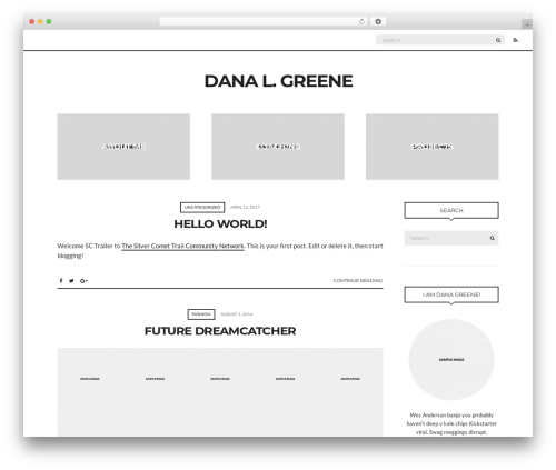 WordPress website template paperbag - danalgreene.com