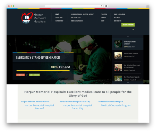 Biosphere medical WordPress theme - harpurhospitalsegypt.org