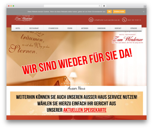 California WordPress restaurant theme - hotel-zum-werdersee.de