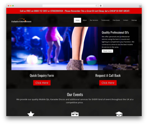 DJ WordPress page template - djsinlondon.net
