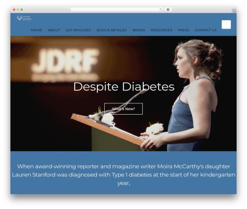 PassionBlogger WordPress blog theme - despitediabetes.com