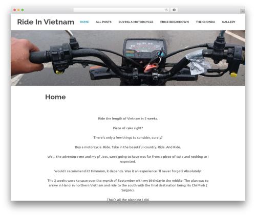 Poseidon free website theme - rideinvietnam.com