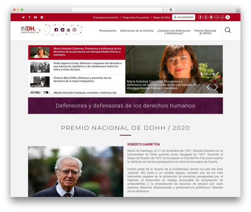 Salient WordPress website template - defensoresydefensoras.indh.cl