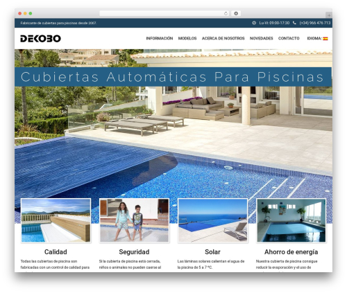SwimmingPool premium WordPress theme - dekobo.es