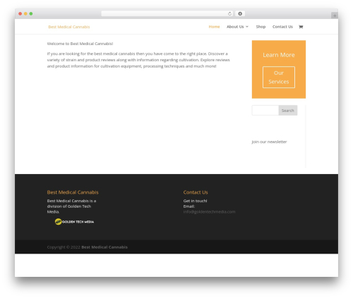 Theme WordPress Divi - bestmedicalcannabis.com