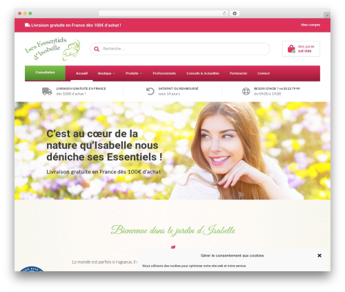 WoonderShop PT WordPress ecommerce template - les-essentiels-isabelle.com
