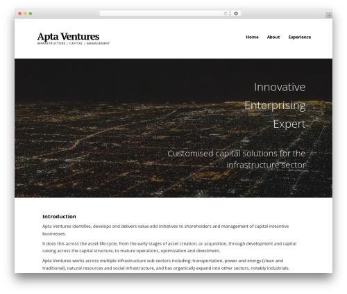 WordPress template Ascension - aptaventures.com