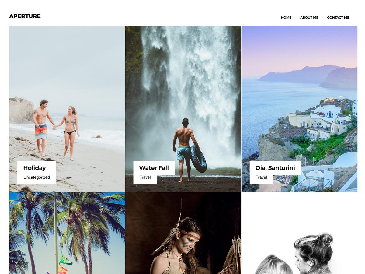 Aperture Portfolio wallpapers WordPress theme