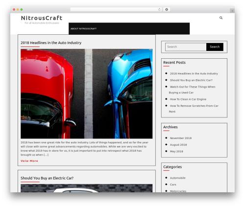 Automobile Car Dealer WP template - nitrouscraft.net