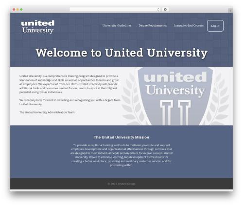 GeneratePress free WordPress theme - united.university