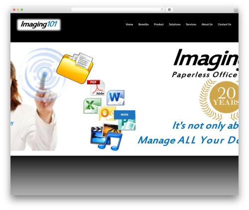 Sydney WordPress template free - imaging101.com