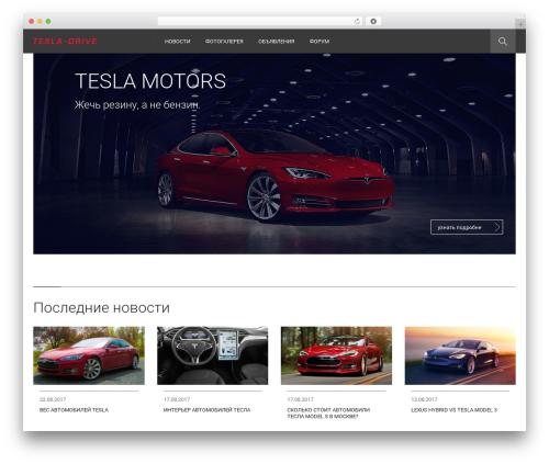 Tesla car rental WordPress theme - tesla-drive.ru