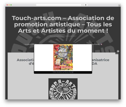 WordPress website template Fara - touch-arts.com