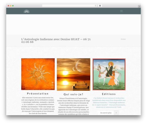 Betheme WordPress theme - astrologie-indienne.fr