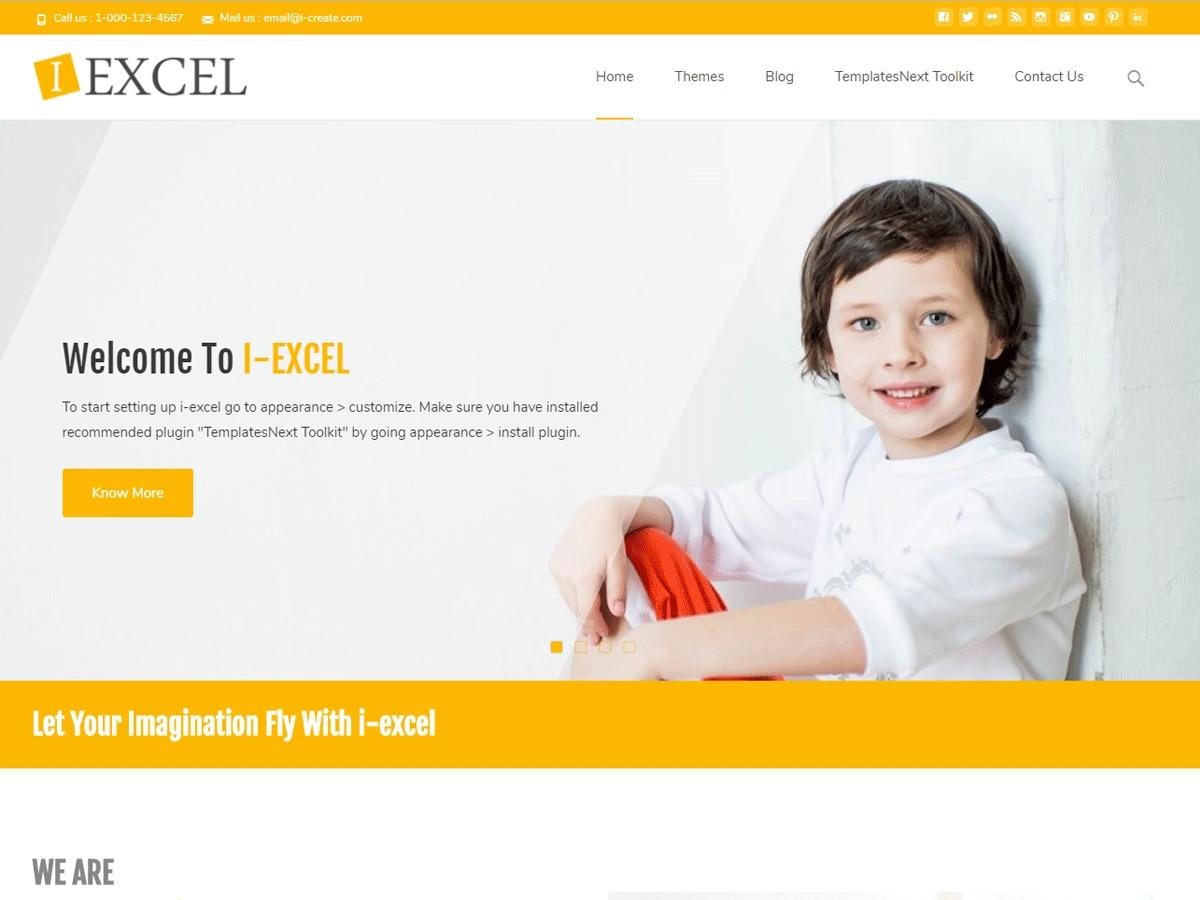 i-excel WordPress portfolio template