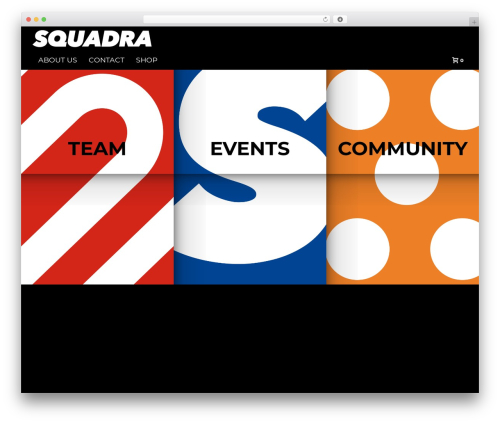 Jupiter WordPress page template - squadratriathlon.nl