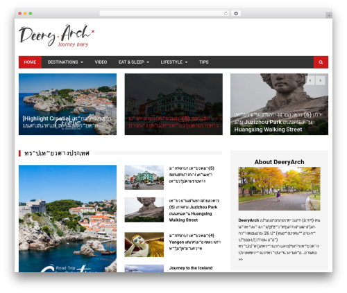 Kathmag WordPress template - deeryarch.me
