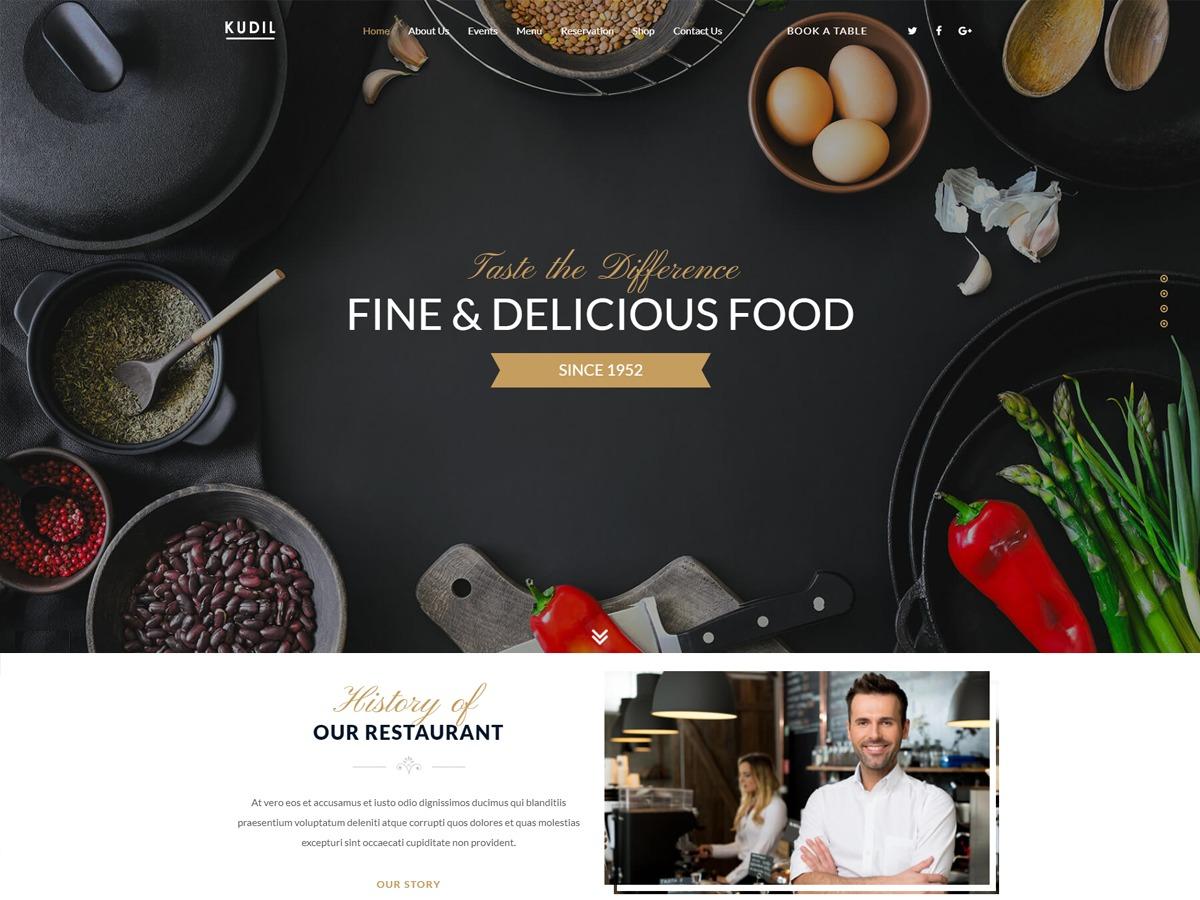 Kudil best hotel WordPress theme