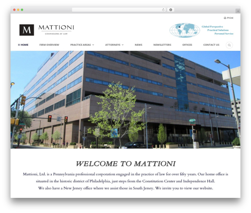 Lawyer Base WordPress theme - mattioni.com