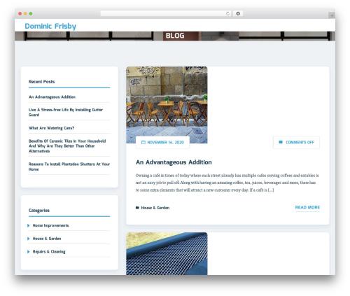 Sciencex Lite template WordPress - dominicfrisby.net
