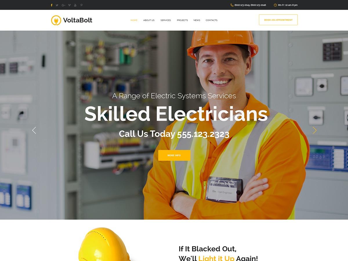 Voltabolt WordPress theme
