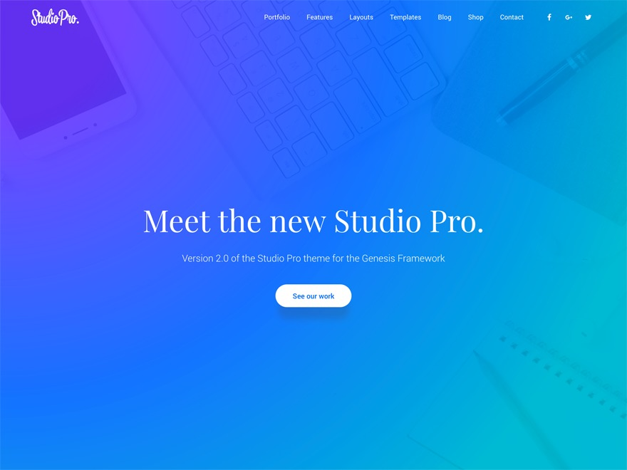WordPress theme Studio Pro