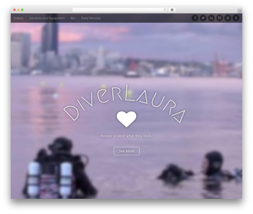 Arcade WordPress page template - diverlaura.me