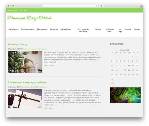 Organic Lite WordPress theme - drugioddech.pl