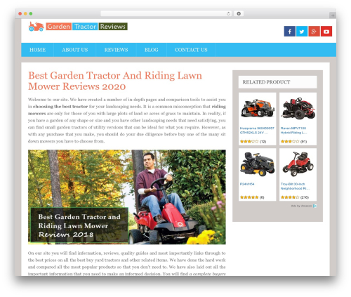 SociallyViral by MyThemeShop WordPress website template - gardentractor.reviews