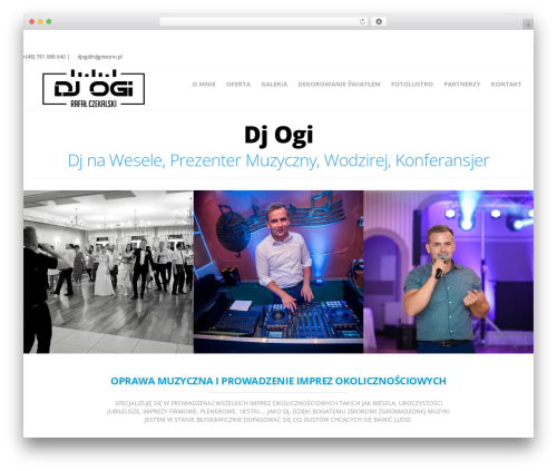 Theme WordPress Hercules - djgniezno.pl