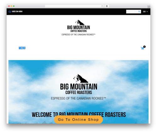 Coffeera WordPress template - bigmountaincoffeeroasters.ca