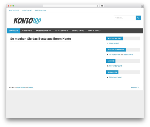 Merlin free WP theme - konto100.de