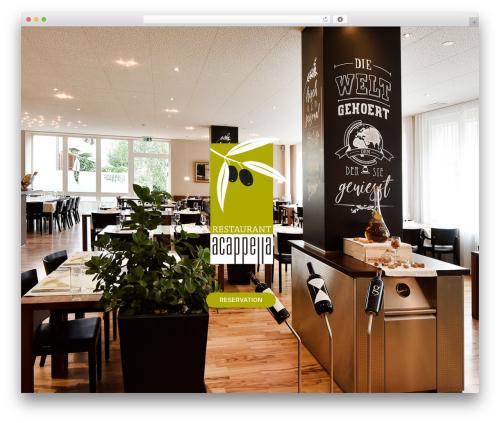 The7 WordPress restaurant theme - restaurant-acappella.ch