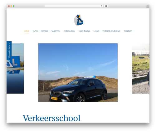 Best WordPress theme Chester - verkeersschoolblauw.nl