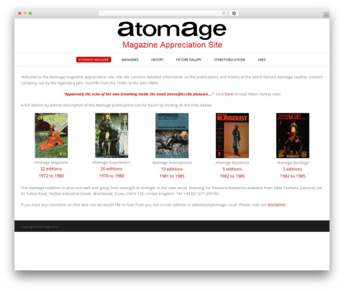 Conica WordPress news template - atomage.co.uk