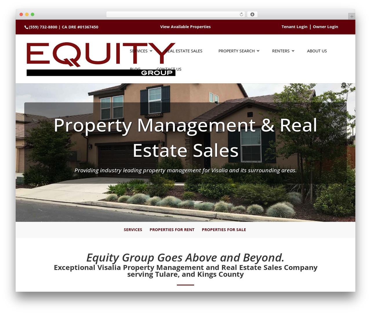 Divi top WordPress theme - equitygroupinc.com